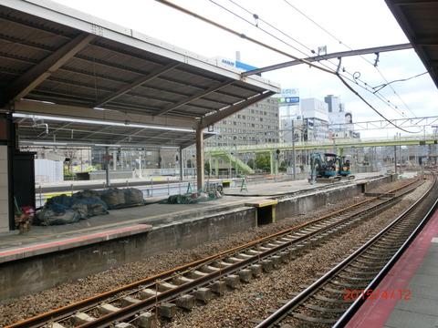 新大阪駅 旧13・14番のりば改装工事(2015年4月) 【Part1】