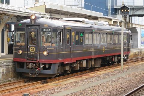 敦賀駅で 京都丹後鉄道の観光列車 「丹後くろまつ号」 を撮る (2020年10月)