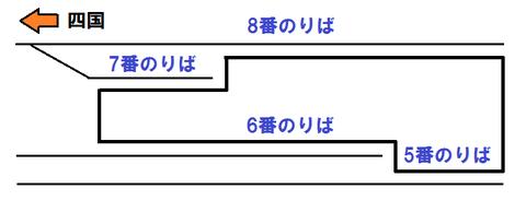 岡山駅 瀬戸大橋線ホーム
