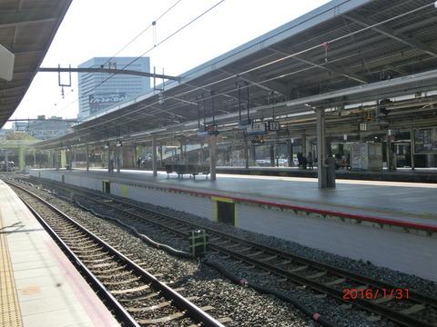 新大阪駅の新11・12番のりば、使用開始前日の様子(2016年1月31日) 【Part2】