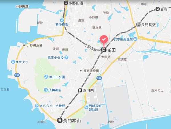 雀田駅 地図