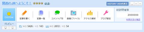 このブログの訪問者数が累計200万人を突破しました!!!