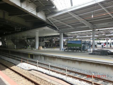新大阪駅 旧15・16番のりば改装工事(2014年10月) 【Part2】
