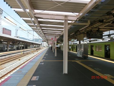 京都駅 JR奈良線ホーム改良工事(2016年8月) 【Part2】
