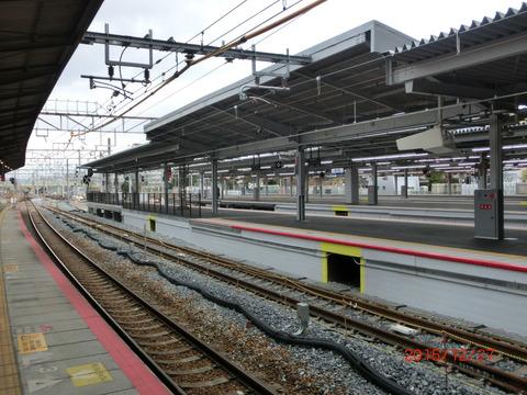 新大阪駅 旧13・14番のりば改装工事(2015年12月) 【Part1】 新・電光掲示板が登場!