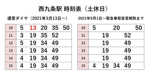 JRゆめ咲線、土休日と5月6日・7日に減便。 日中は毎時2本・30分間隔に。 (2021年5月1日~緊急事態宣言解除まで)