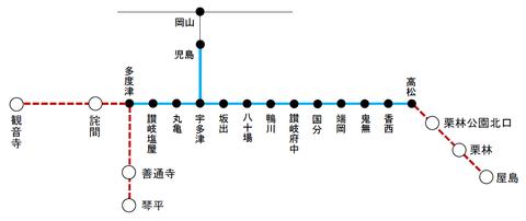 JR四国 ICOCAエリア(2020年3月以降)