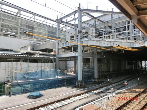 京都駅 JR奈良線ホーム改良工事(2016年8月) 【Part1】