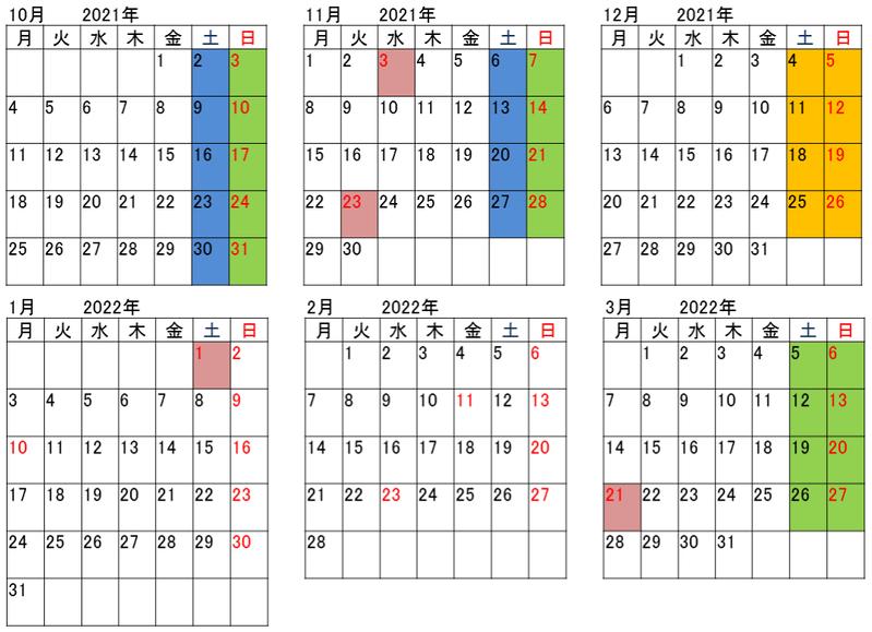 ラ・マル・ド・ボァ2021年10月~2022年3月
