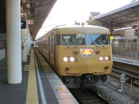 福山駅 在来線ホームの電光掲示板(発車標) 【運行管理システム導入前】