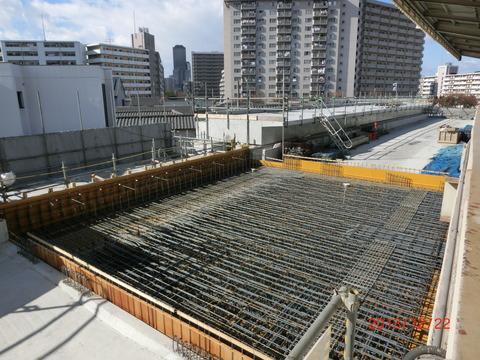 鴫野駅 新ホーム設置工事(2013年12月)