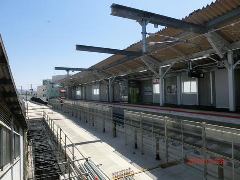 鴫野駅 新ホーム使用開始前日の様子(2015年3月28日) 【Part1】