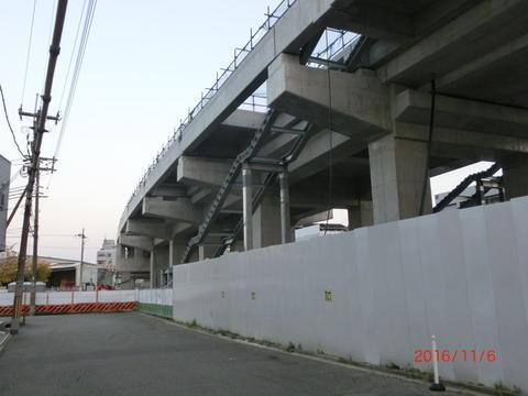 おおさか東線 南吹田駅 建設工事(2016年11月6日) 【Part2】