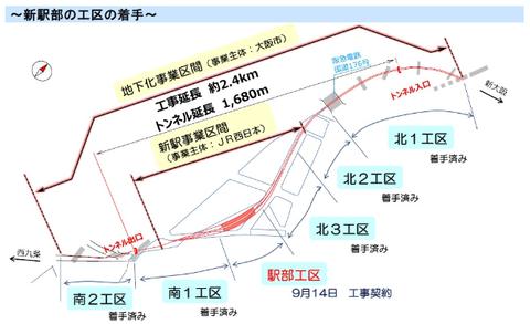 北梅田駅(JR西日本 公式ホームページより)