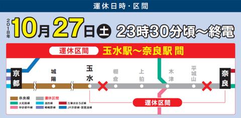 玉水~奈良駅間 運休(JR西日本 ニュースリリース)