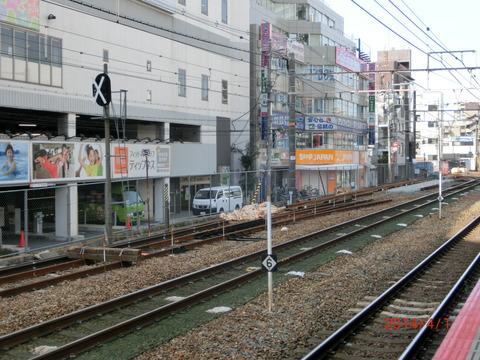 高槻駅のホーム増設工事がついに始まる!(2014年4月)