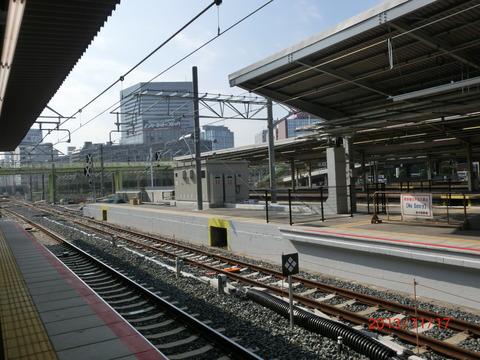 新大阪駅 旧17・18番のりば改装工事(2013年11月)
