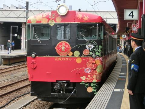 金沢駅で観光列車 「花嫁のれん」 を撮る