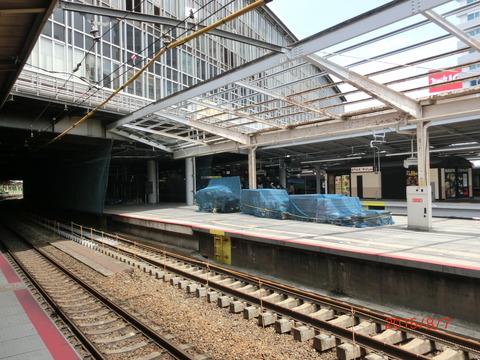 新大阪駅 旧13・14番のりば改装工事(2015年8月) 【Part1】