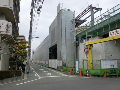 おおさか東線 JR野江駅 建設工事(2018年2月)