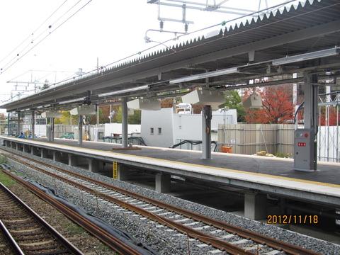 新大阪駅 新ホーム設置工事(2012年11月)