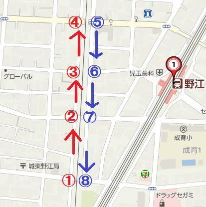JR野江駅 地図(2016年)