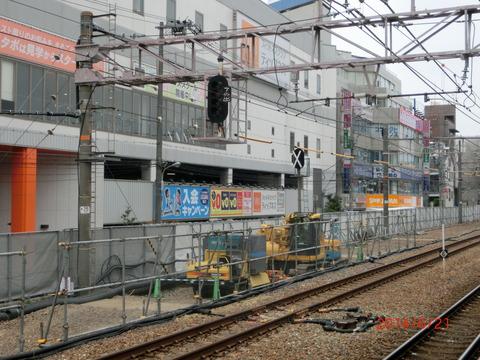 高槻駅 ホーム増設工事(2014年6月)