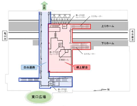 桑名駅 JR概要図