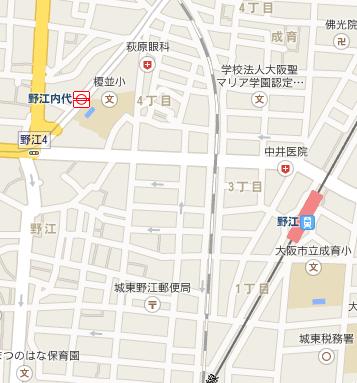野江駅地図