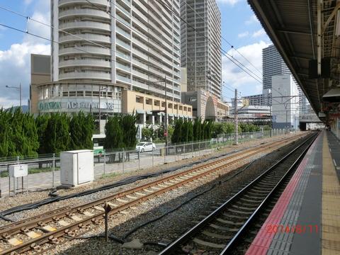 高槻駅 ホーム増設工事(2014年8月)