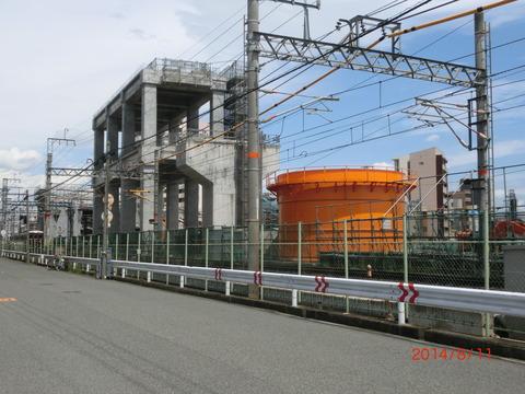 阪急淡路駅 高架化工事&駅周辺の様子(2014年8月) 【Part1】