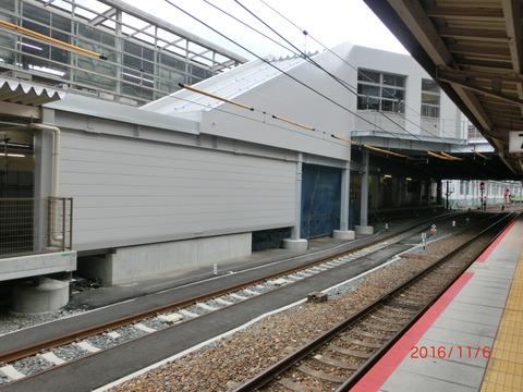 京都駅 JR奈良線ホーム改良工事(2016年11月6日)