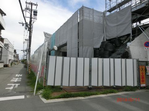 おおさか東線 JR淡路駅 建設工事(2014年8月)