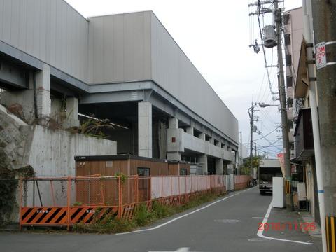 おおさか東線 JR都島駅(仮称) 建設工事(2016年11月26日) 【Part2】