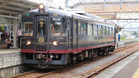 小浜駅で 京都丹後鉄道の観光列車 「丹後くろまつ号」 を撮る (2020年10月)