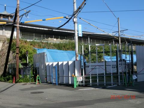 おおさか東線 JR淡路駅 建設工事(2015年10月)