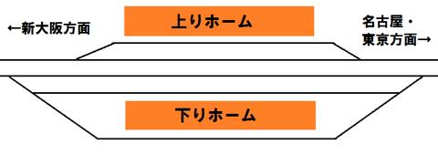 南びわ湖駅の配線図