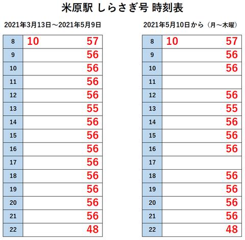 米原駅 しらさぎ 5月10日~