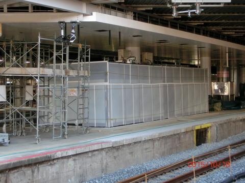 新大阪駅 旧13・14番のりば改装工事(2015年10月) 【Part1】