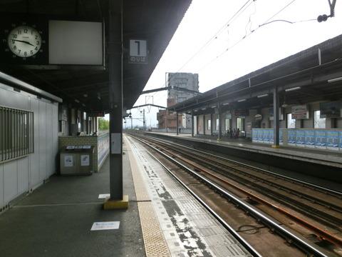 【駅紹介】 丸亀駅 ホーム・駅舎・駅名標・改札口・駅前の様子 (2014年8月)