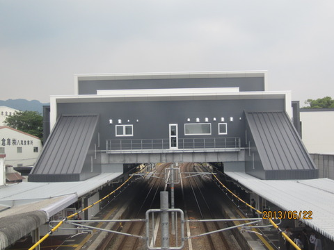 JR八尾駅 新駅舎の使用開始まであと2週間! ホームの様子(2013年6月)
