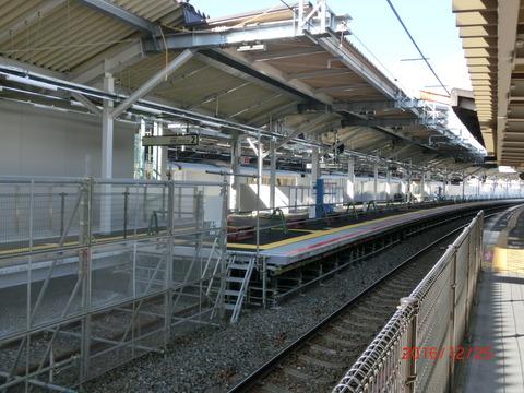 鴫野駅 2番のりば改装工事(2016年12月) 【Part1】
