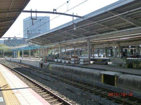 新大阪駅 旧13・14番のりば改装工事(2015年10月) 【Part2】