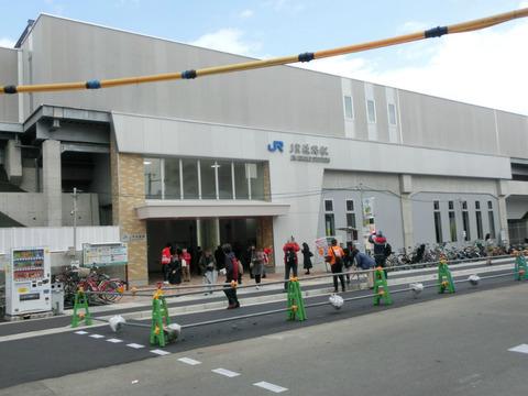 【開業初日】 おおさか東線 JR淡路駅 開業後の様子 (2019年3月16日)