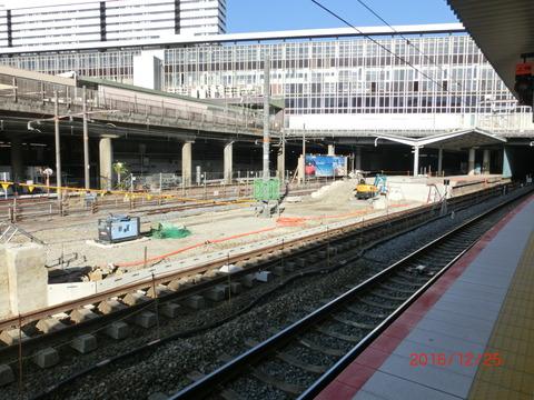 新大阪駅 旧11・12番のりば改装工事(2016年12月25日)