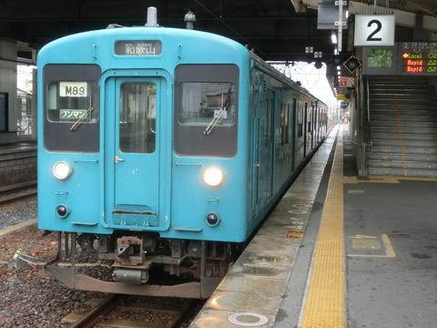 【ついに引退】 高田駅で105系・117系を撮る(2019年1月・2月)