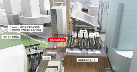 うめきた新駅2(JR西日本 ニュースリリースより)
