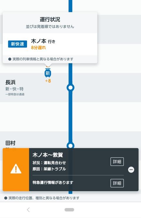 新快速 木ノ本行き