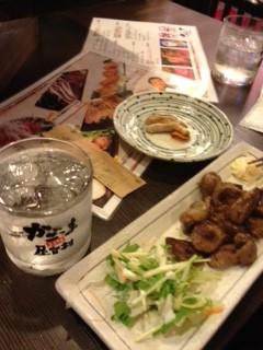 豚のあご肉+焼酎