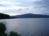 阿寒湖の夕暮れ